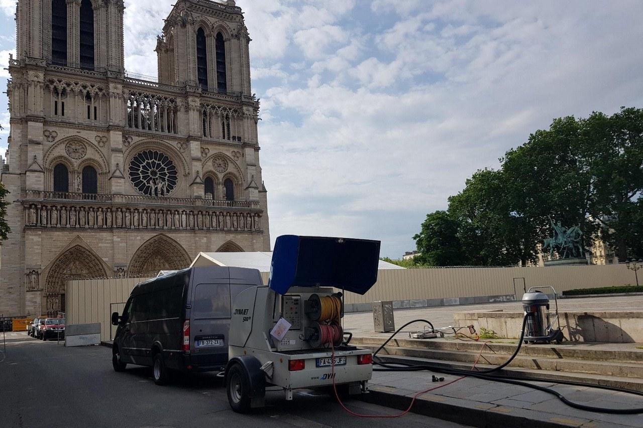 DYNAJET soutient les travaux de restauration de Notre-Dame