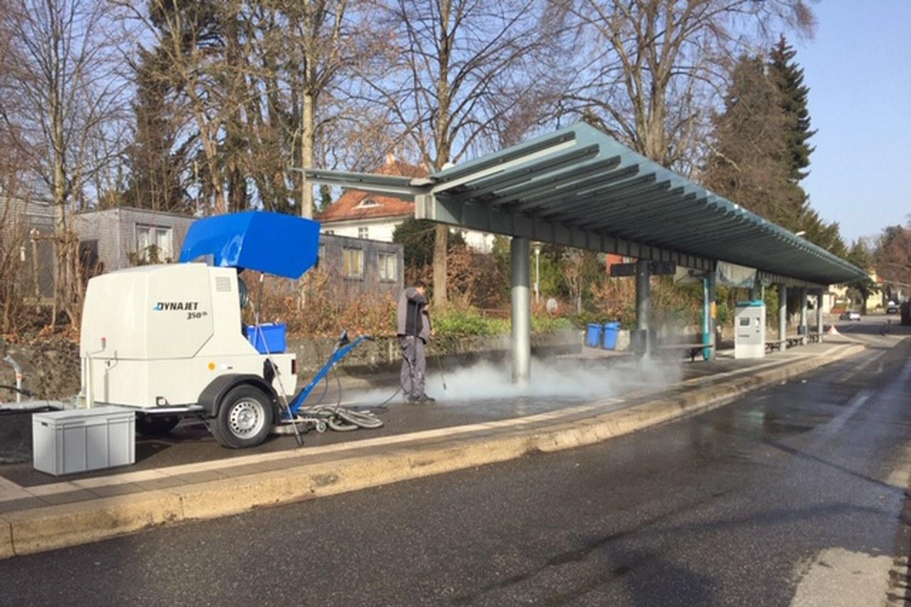 Grand nettoyage pour l'exposition de jardinage à Lindau avec le DYNAJET 350th