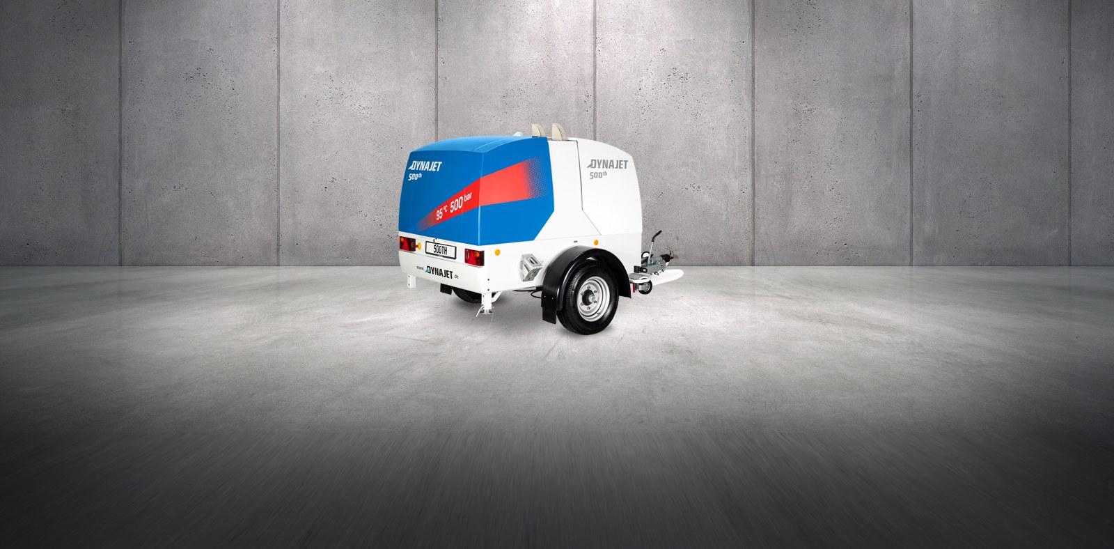 Le nouveau DYNAJET 500th Blue Performance - Nettoyeur à eau haute pression avec contrôle digital et jusqu'à 500 bar de pression de travail