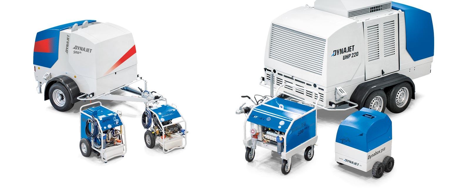 Les nettoyeurs haute pression DYNAJET, dont la pression de travail peut atteindre 3 000 bar, répondent aux exigences de qualité les plus élevées et sont conçus pour des interventions difficiles