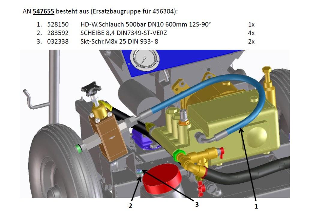 Module de remplacement pour tuyau No. 456304