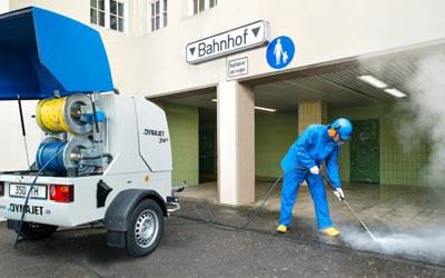 DYNAJET pour les municipalités & les entreprises de nettoyage